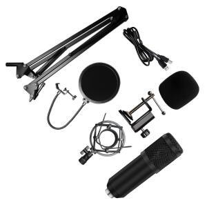 [App] Kit Microfone BM800 USB Condensador Estúdio Profissional - R$172