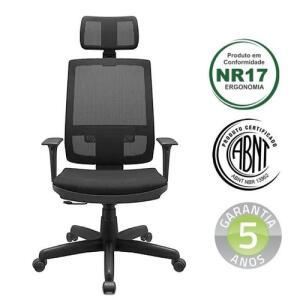 [APP] Cadeira Presidente Escritório Brizza Relax - R$756