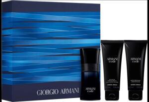 Kit Armani Code Giogio Armani Masculino 50ml + Gel de Banho 75ml + Pós-Barba 75ml - R$243