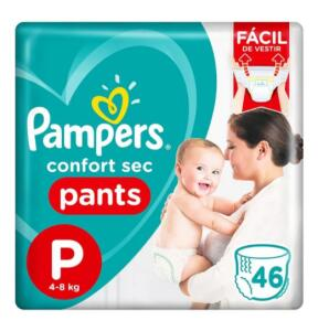 Fralda Descartável Pampers Confort Sec Pants P 46 Unidades | R$ 20