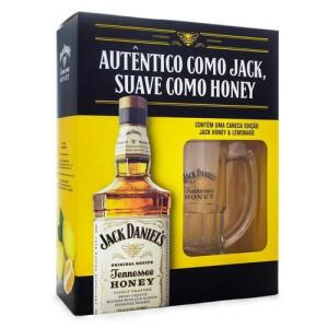 [App] Kit Whisky Jack Daniels Honey 1 L + Caneca De Vidro - R$136