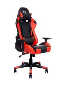 Cadeira Star Game Performer Reclinável Em Couro PU Vermelha e Preta - R$662