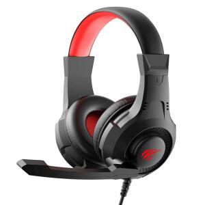 Headset Gamer Havit, USB + P2, Black/Red, H2031D - R$86
