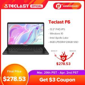 Notebook Teclast F6 8gb 128gb SSD | R$1621