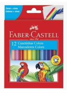 Canetinha Hidrográfica, Faber-Castell, 15.0112CZF, 12 Cores | R$10