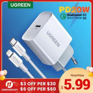 Carregador 20W Ugreen - USB-C + Cabo Lightning (iPhone)   R$80