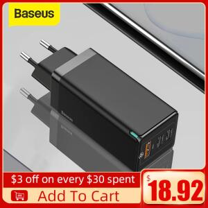Carregador Baseus GaN 65W 3 saídas Tipo-C | R$148