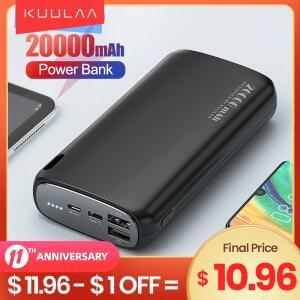 [Primeira compra] Bateria Externa Kuulaa carga rápida 20.000mAh - R$62