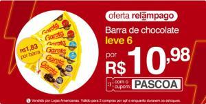 6 Barras de chocolate Garoto por R$11