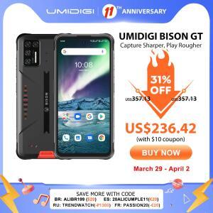 Smartphone Umidigi Bison GT ip68/ip69k 8gb + 128gb | R$1.450