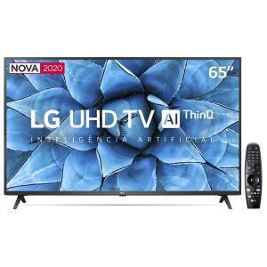"Smart TV LED 65"" 4K LG 65UN7310PSC Wi-Fi, Bluetooth, HDR, Google Assistente, Alexa, Controle Smart Magic R$ 3.533"