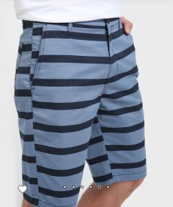 Bermuda Jeans Color Listrada - Azul - R$16
