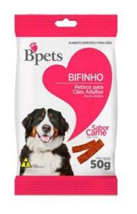 [APP] Bifinho para cachorro adulto carne 50g -Bpets | R$0,68
