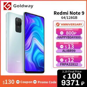 Smartphone Xiaomi Redmi Note 9 Global 3GB 64GB | R$816