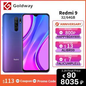 Smartphone Xiaomi Redmi 9 Global 3GB + 32GB NFC   R$617