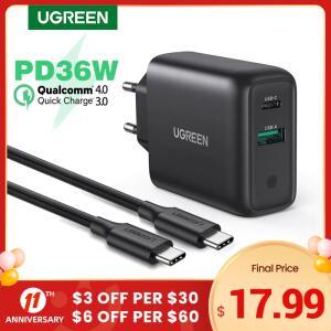 Carregador Rápido Ugreen PD36 36W Quick Charge 3.0 | R$122