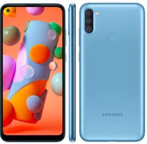 Smartphone Samsung Galaxy A11 Azul 64GB, Câmera Tripla | R$899