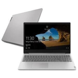 "Notebook Lenovo Dual Core 4GB 128GB SSD Tela 15.6"" Windows 10 Ideapad S145 81WT0006BR"