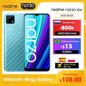 Smartphone Realme Narzo 30A 4GB 64GB 6000mAh Global | R$711