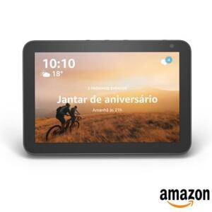 Smart Speaker Amazon com Alexa Preto - ECHO SHOW 8 | R$595