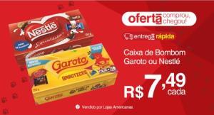 [App] Caixa de Bombom Garoto ou Nestlé - R$ 7,49