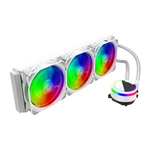 Water Cooler Alseye M360 White, 360mm, RGB, Intel-AMD   R$490