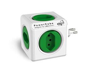 (Prime) Multiplicador 5 Tomadas Bivolt - PowerCube ELG - PWC-R5, Verde e Branco   R$ 70
