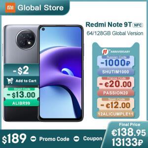 Smartphone Xiaomi Redmi Note 9T 5G - 4GB+64GB | R$1.075