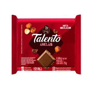 Chocolate GAROTO TALENTO ao Leite com Avelãs 25g | R$ 1,49
