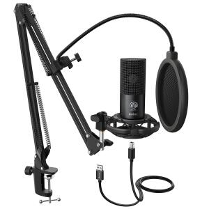 Kit Microfone FIFINE Studio Condenser USB T669 | R$ 355