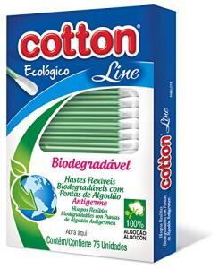Hastes Flexíveis Biodegradável C/75 Unid | R$1