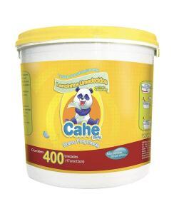 [PRIME] Lenço Umedecido BALDE (400 UNID) , Cahe Baby | R$ 10