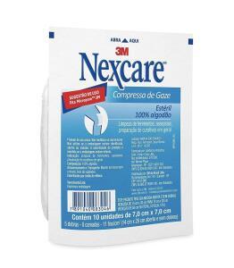 [PRIME] Gaze estéril Nexcare c/10 unidades, Nexcare, Branca | R$1,85
