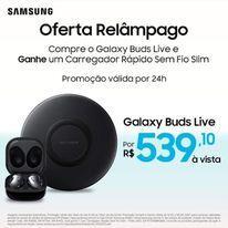 Galaxy Buds Live + Carregado rápido sem fio Slim | R$ 539