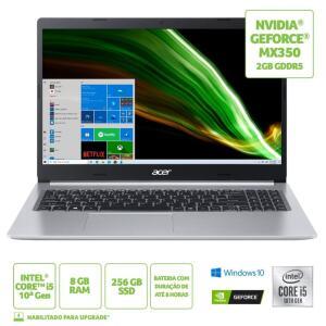 Notebook Acer Aspire 5 A515-55G-588G i5 8 GB 256GB SSD MX 350 15,6` | R$3999