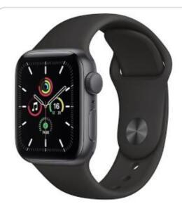 Apple Watch Se 40mm - Caixa Cinza-Espacial e Pulseira Esportiva Preto | R$2279