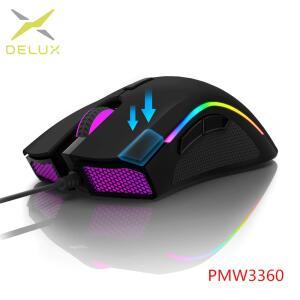 [Novas Contas] Mouse Delux M625, Sensor High-end 3360, 1ms, RGB, 7 botões R$65
