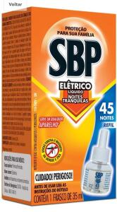 [Prime + Recorrência] Refil para repelente elétrico líquido SBP | 5,77 uni