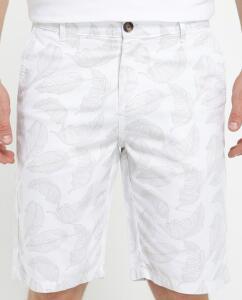 Bermuda jeans color folhagens reta R$18
