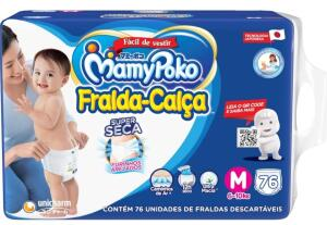 Fralda-Calça Super Seca MamyPoko Tamanho M, 76 und R$80