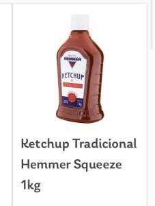 (Somente SP) Ketchup tradicional Hemmer 1kg | R$11