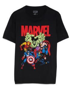 Camiseta Manga Curta Vingadores - Preto | R$22