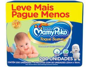 Toalhas umedecidas Mamypoko 200 unid ( 4 x 50) | R$23