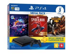 Console Playstation 4 Slim 1TB Bundle 17 + jogos + PS Plus 3 Meses | R$2550