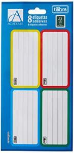 [Prime] Etiqueta Escolar Adesiva Académie, Tilibra, 8 etiquetas | R$1,04
