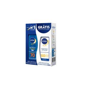Kit Nivea Protetor solar FPS 70 + Protetor solar facial FPS 60 | R$28