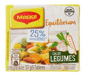 Maggi Caldo Legumes Menos Sodio 57g ( Min.4) R$0,76