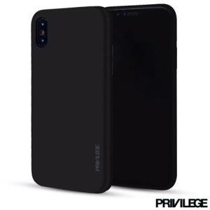 Capa Protetora para iPhone X Slim Finito em TPU Preta R$5