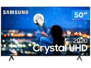 "Smart TV Crystal UHD 4K LED 50"" Samsung | R$2327"