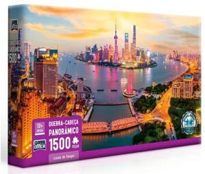 Quebra-Cabeça - 1500 Peças - Luzes de Xangai - Toyster | R$50